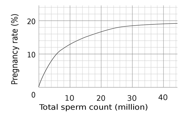 Connection between sperm count and pregnancy rate-min