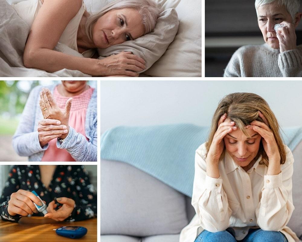 Symptoms of female low testosterone levels include - Sleep disturbances, insulin resistance, fatigue, irritability, decreased bone density