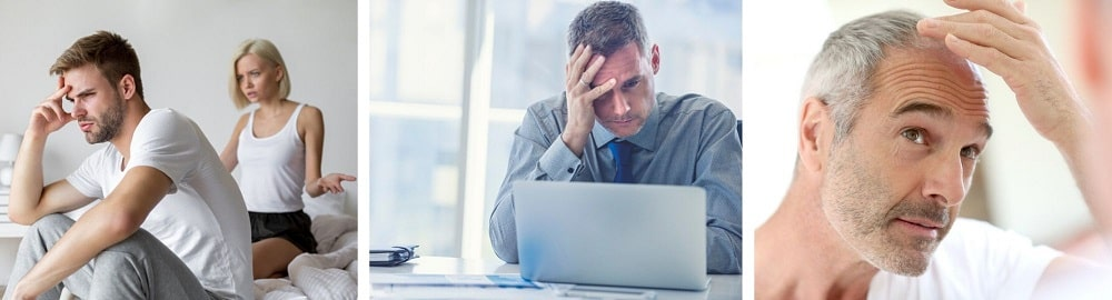 How do I know if I have low testosterone levels - hair loss, bed concentration, erectile dysfunction