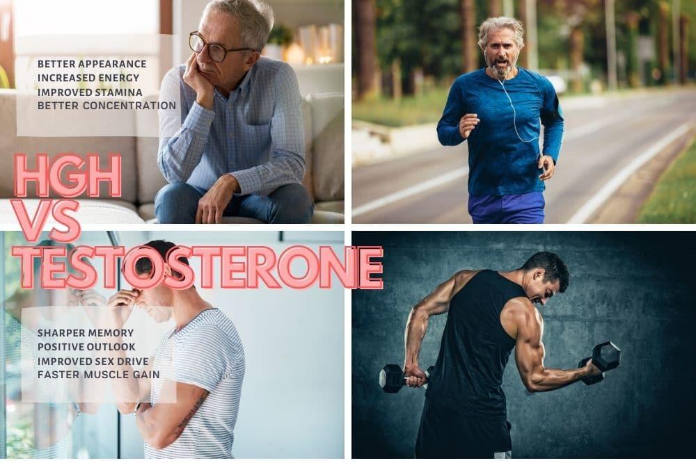 Growth hormone VS TESTOSTERONE - Benefits